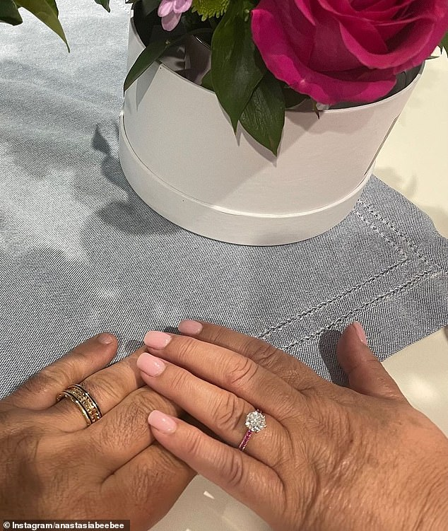 Adorable!  Meanwhile, 56-year-old Anastasia Katselas announced her engagement to boyfriend Gabriel Massoud last month.  In an Instagram post, the Gogglebox Australia star uploaded a photo of the couple displaying their engagement ring on their left wedding finger.