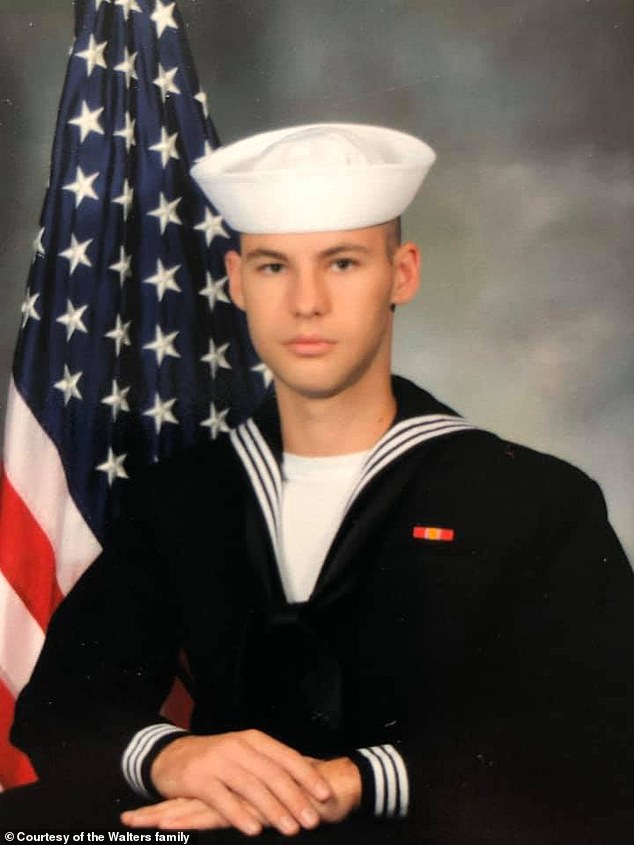 Cameron Scott Walters, 21, also died in the shooting. Walters followed his father into the forces