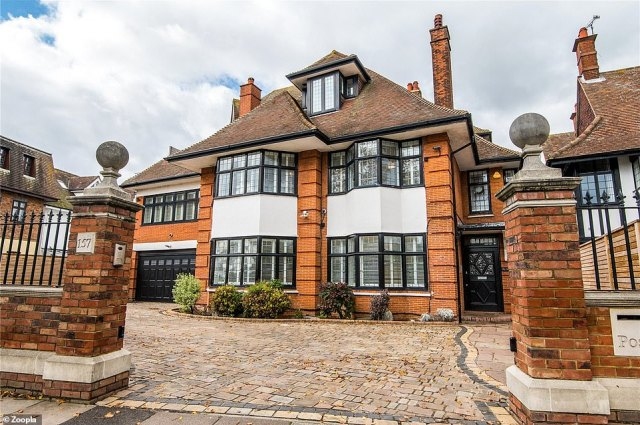 The six-bedroom property in Westcliff-On-Sea is on the market via estate agents Keller Williams with an asking price of £2,275,000