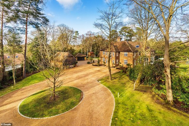 This seven-bedroom family homein Farnham's Lower Bourne is being sold for £3.5million by ME estate agents