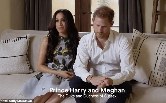 Judi said the Duchess had taken a 'much softer, more regal role' in the new clip, while the Duke's hand gestures and splayed-legs showed 'confidence and enthusiasm'