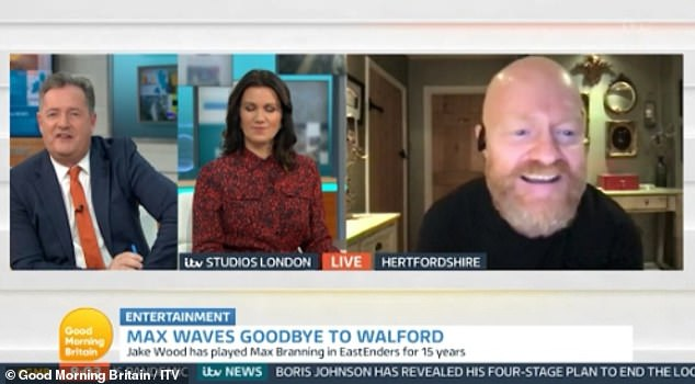 'My wife hates it!' Former EastEnders star Jake Wood revealed on Tuesday he's delight he can finally grow a beard after being forced to keep it the same length for 15 YEARS for the soap