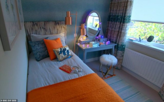 The parents were most emotional after seeing daughter Kara's bedroom transformed into a trendy space for the young teenager, who has the same condition as her mother