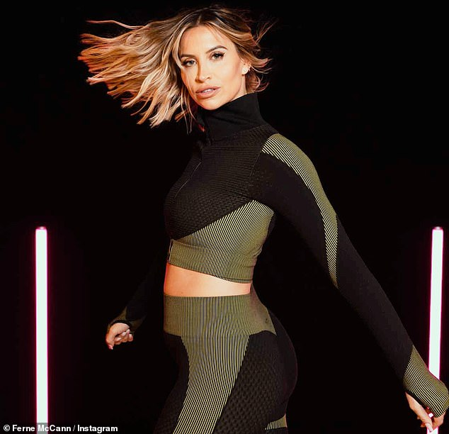 Body confidence: The mother-of-one discussing her new Get Your Groove Back plan on her fitness app, Embodyment With Ferne, with MailOnline