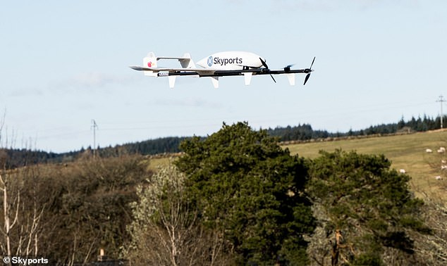 The fleet of drones will be carrying up to 3kg of critical medical samples and supplies up to 40 miles, reducing journey times from up to 36 hours for a road and ferry journey to 15 mins
