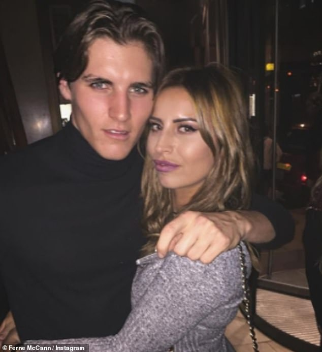 Timing: Ferne confirmed she and the model hunk stayed in contact over social media and reunited at a brunch organised by Jack last year (pictured when they met five years ago)