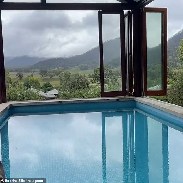 Really nice!  The couple bathed in a private pool open to stunning mountain views