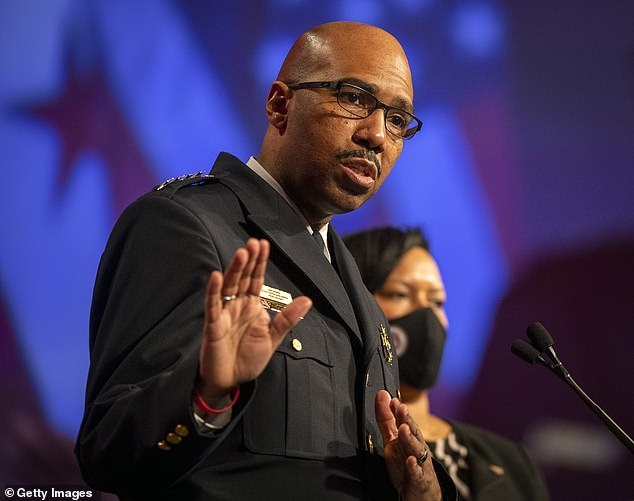 Robert J. Contee III, the acting DC Chief of Police, was invited to speak about the role his force played responding to the riot. He took his post just days before the riot