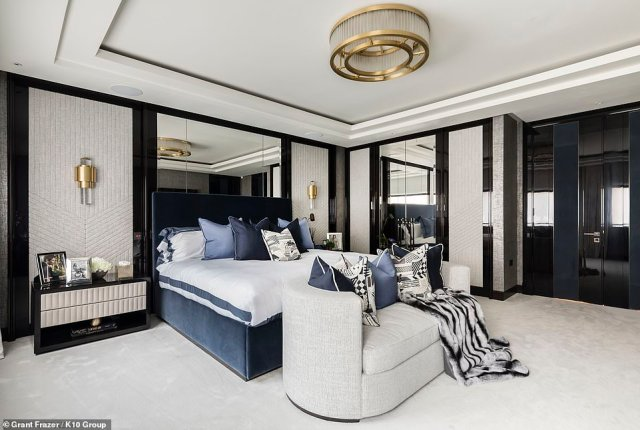 A 24-year-old Chinese heiress has scored London's most expensive tenancy ever by paying £3.1 million upfront to rent a Mayfair property. The unnamed student, who is rumoured to be heiress to a billionaire's fortune, has agreed to pay £1.55 million a year to rent Culross House, a newly built townhouse worth £30 million and adjacent to Hyde Park (pictured, the master bedroom)