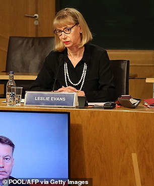 Leslie Evans, Permanent Secretary to the Scottish Government, is pictured as she gives evidence at Holyrood to a Scottish Parliament committee examining the handling of harassment allegations against former first minister Alex Salmond