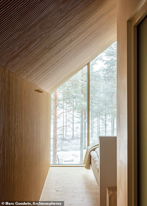 The cabin is the first accommodation unit to be built for a new resort called the Kivijarvi Resort