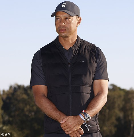 Tiger Woods is shown on Sunday at the Genesis Invitational golf tournament. He is now in surgery