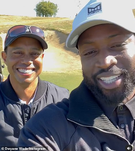 Dwyane Wade was also on the golf course with him on Monday afternoon