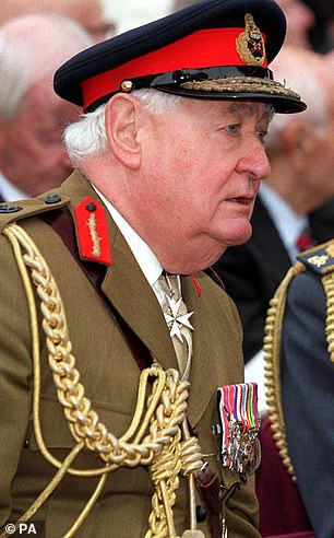 Former head of the British Army, the late Lord Bramall