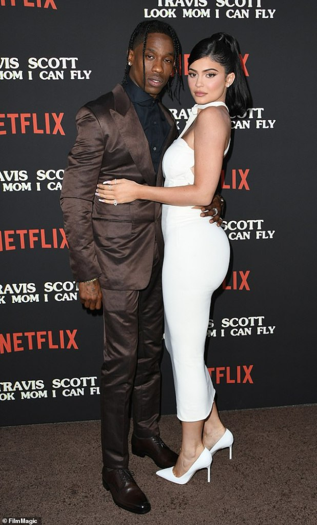 Still Close: Travis is still very close to his ex-mom Kylie Jenner and many insiders are not ruling out a romantic reunion in the future.  They are seen in August 2019 above