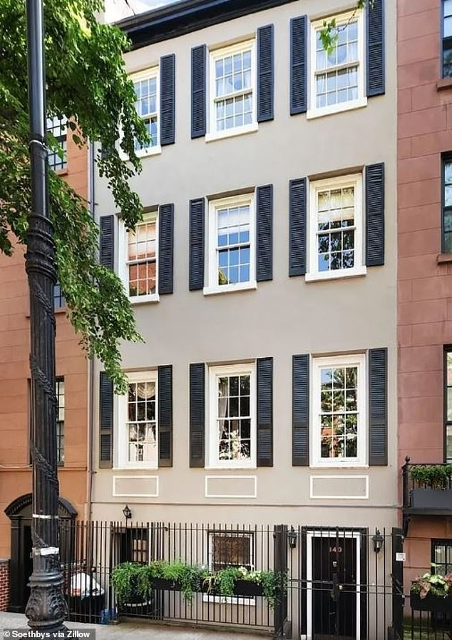Moving on: Paulina sold the townhouse where she lived with her late husband for three decades for $10 million in September