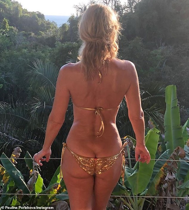 Looking back: Last week, Paulina shared a cheeky throwback photo of herself that was taken in Costa Rica on February 19, 2020