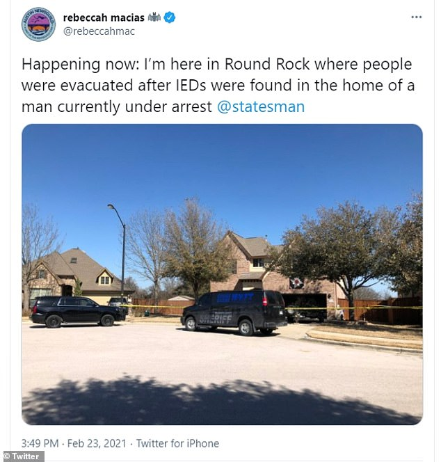 At Crawson's home, authorities found 'several' improvised explosive devices