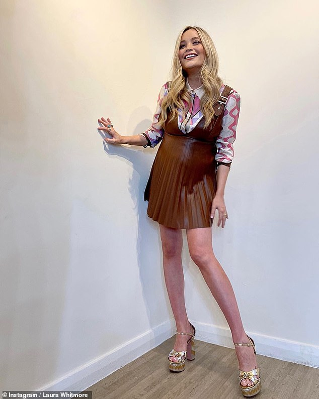 Keeping busy:Laura Whitmore proved she's every inch the hard-working mother-to-be as she kicked off filming for the latest series of Celebrity Juice