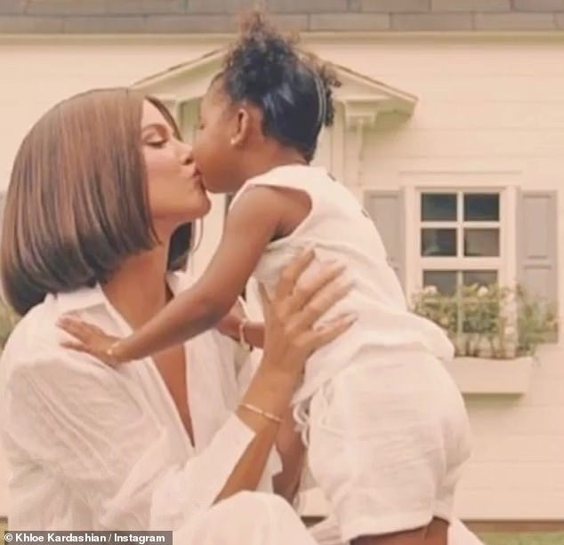 Almost three: The couple - who got back together last year - share daughter True, who turns three in April, and the reality star has made no secret of her desire for more children