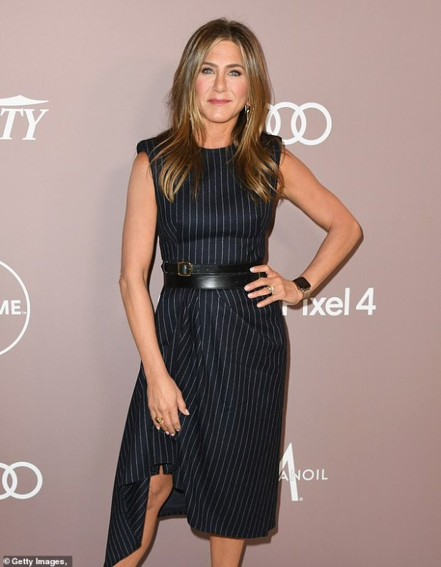 Subtle: Friends fans have claimed their 'lives have been ruined' after a viral video exposed Jennifer Aniston's vocal tic in the sitcom, which ran from 1994 to 2004;  seen in october 2019