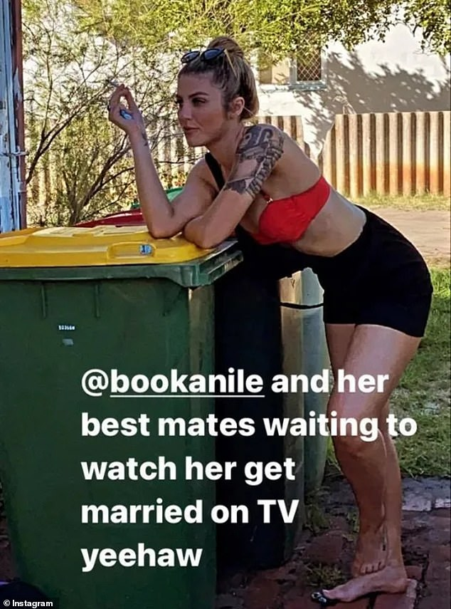 Nothing special?  Additionally, an Instagram video uploaded by one of Booka's family members showed the tattooed blonde looking less than elated as she prepared to watch her wedding day unfold on screen. .