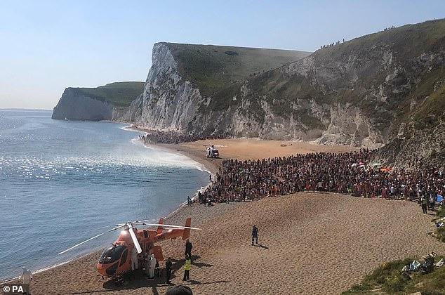 The Lulworth Estate, which owns Durdle Door in Dorset, has complained that huge crowds that headed for Britain's coasts during the easing of the first lockdown left behind an unprecedented trail of destruction