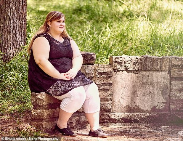 Overweight girls are more likely to develop acne and excess body hair as they go through puberty than their slimmer peers, study states (stock)