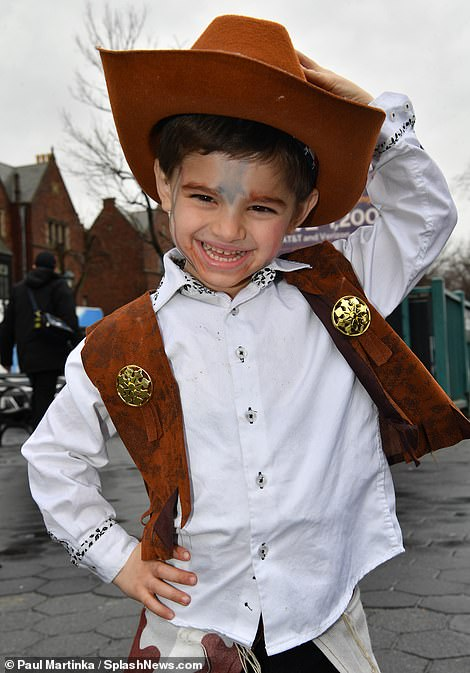 This child echoed the Wild West with his cowboy costume