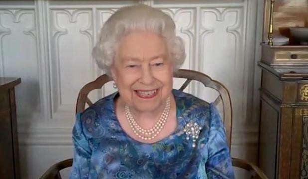 The queen imagined herself speaking to members of the Armed Forces via Cisqo Webex.  The Duke of Edinburgh and the Queen have called the Sussexes