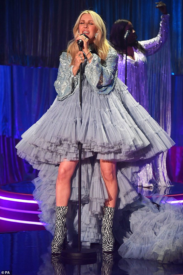 Giving it her all: The songstress appeared on the show to talk about her new single New Love and took to the stage to perform the number