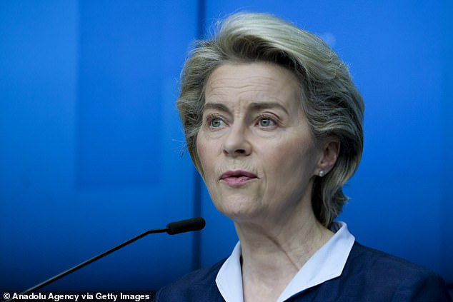 EU chiefUrsula von der Leyen said she would take the British jab 'without a second thought'