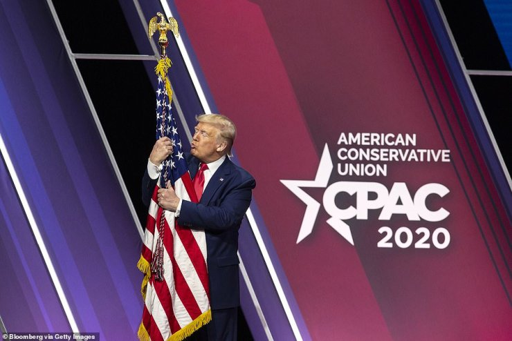 Donald Trump will use his speech Sunday at the Conservative Political Action Conference to push repeated claims that he is the true victor of the 2020 presidential election