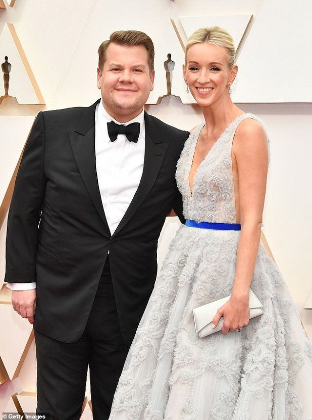 Couple: The 42-year-old TV star praised his wife Julia Carey, saying that 'it is a miracle that my wife did not kill or leave me during this time' (photographed together in February 2020)