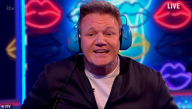 Oops!  The celebrity chef, 54, was acting as a guest announcer on the ITV entertainment show when he accidentally blew the word 'p **** d' during the Read My Lips segment.