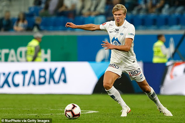 Haaland enjoyed a breakthrough season at Molde before Manchester United came calling