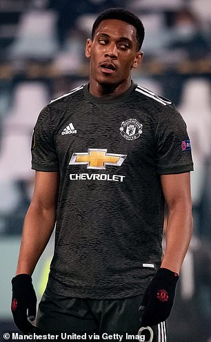 Anthony Martial has struggled for form this season and is being deployed as a centre forward