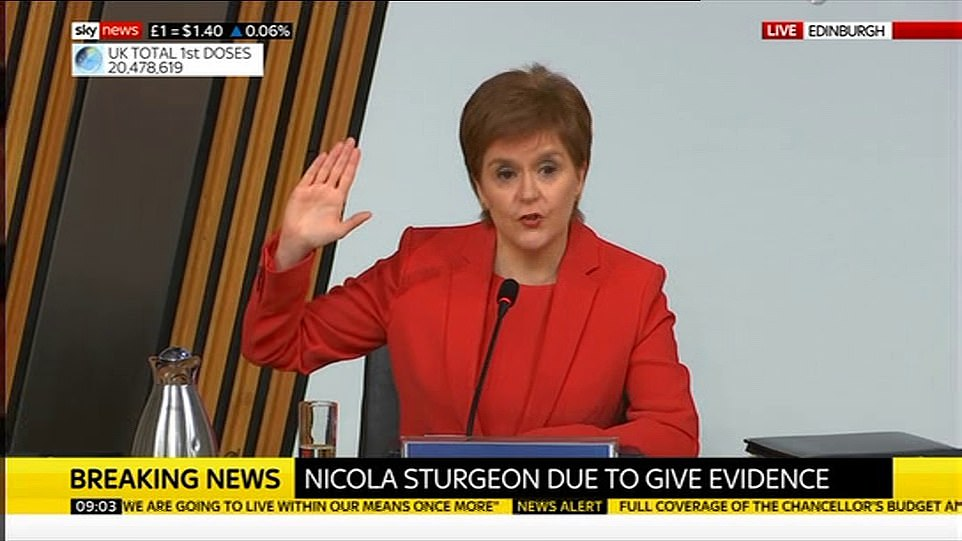 Nicola Sturgeon 's future as First Minister is hanging in the balance today as she faces a grilling from MSPs and demands she resign over extraordinary claims she broke strict rules and lied to Parliament