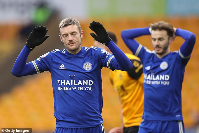 Jamie Vardy looks less than 100 per cent fit while James Maddison is also sidelined at present