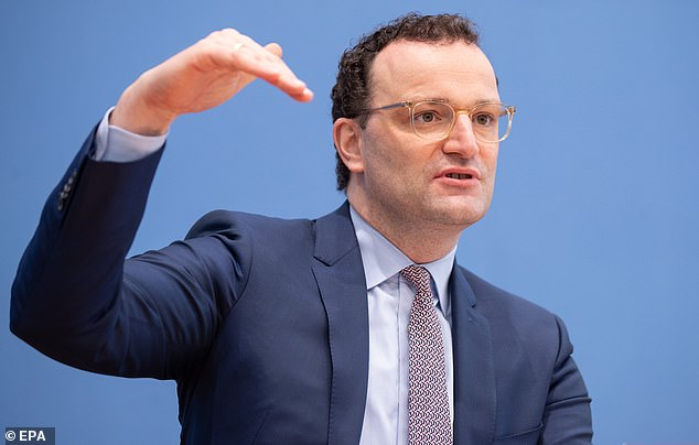 German health minister Jens Spahn, pictured, has called for regulators to let over-65s take the AstraZeneca jab after real-world data from England and Scotland proved that it works