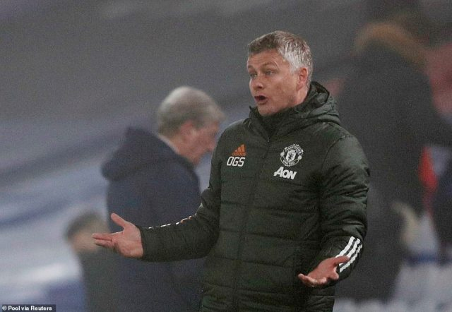 Ole Gunnar Solskjaer cut a frustrated figure on the Selhurst Park touchline as Manchester United once again dropped points