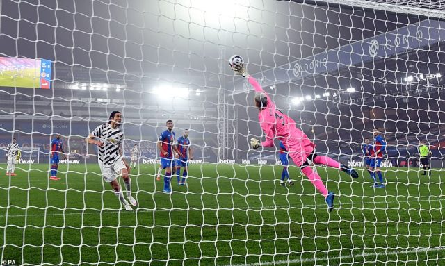 Earlier in the first half Palace keeper Vicente Guaita showed his own prowess by denying Nemanja Matic with a sublime save