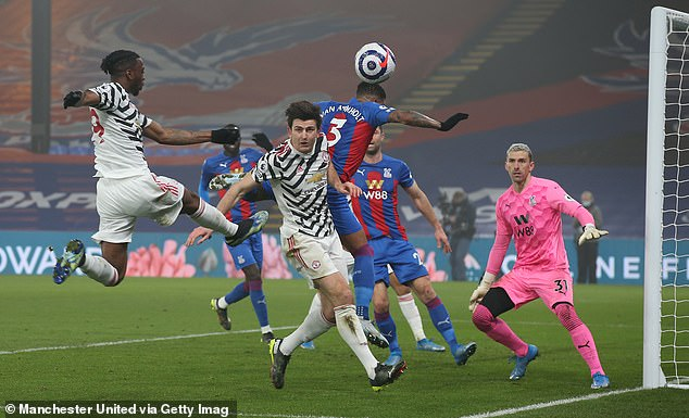 United suffered their third successive draw against Crystal Palace on Wednesday night