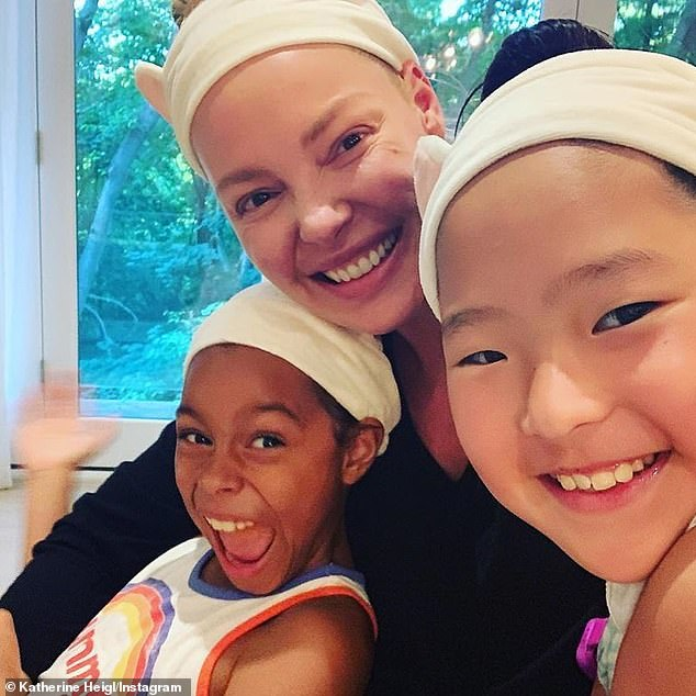 'We Told Them, Here's Your Story': Heigl and her husband Josh Kelley adopted Naleigh, 12, from South Korea at the age of nine months and Adalaide, eight, at birth in the United States. United.