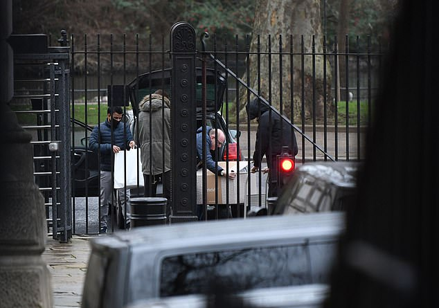They have had around 30 giant boxes of shopping and up to 100 prepared meals from a luxury organic food store ¿smuggled in¿ to Downing Street via the rear entrance