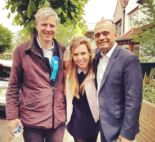 The Daily Mail has been told that Mr Johnson was present when a plan was mooted to ask Tory donors ¿ including environment minister Lord [Zac] Goldsmith, a close friend of Miss Symonds (pictured together alongside Sajid Javid)