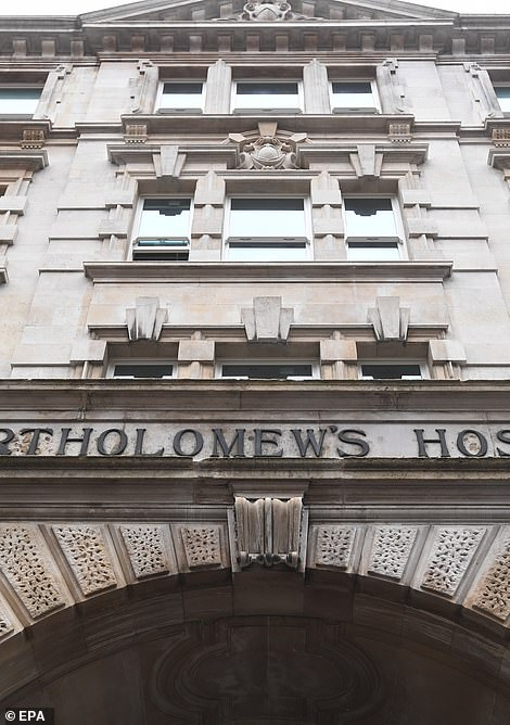 He was moved to leading cardiac centre St Bartholomew's Hospital in the city of London on Monday
