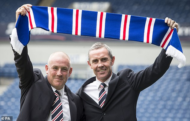 Mark Warburton was named manager as Rangers looked to seal promotion to the Premiership