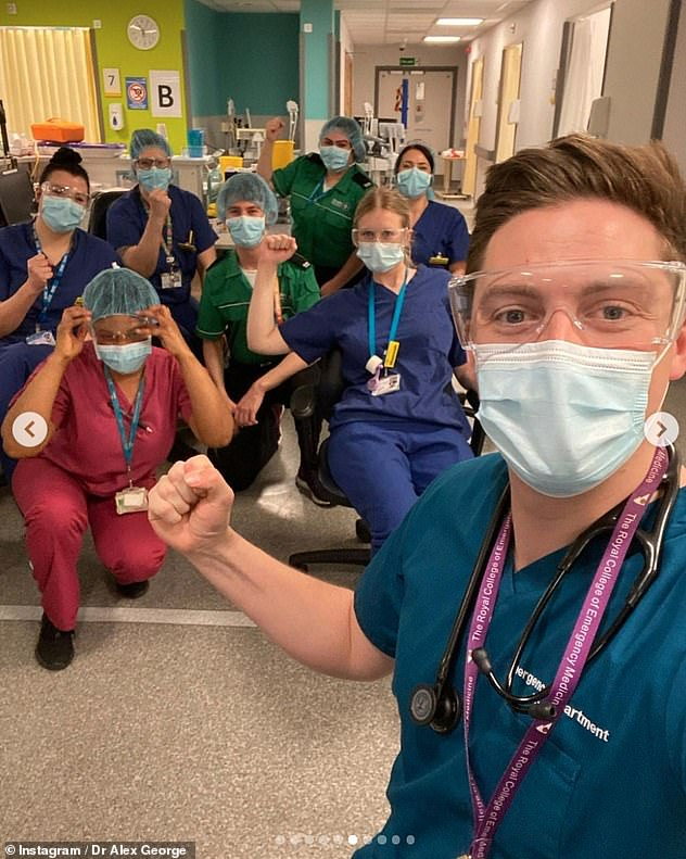 Inspiring: Alex praised for continuing to work tirelessly on the NHS frontline during the Covid pandemic