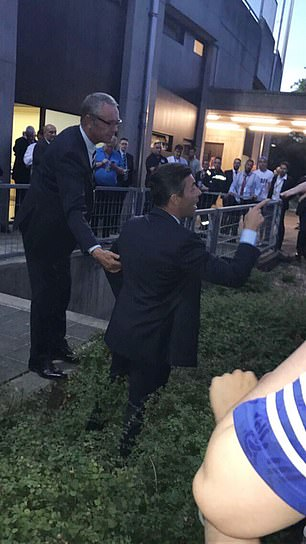 Pedro Caixinha argues with fans in Luxembourg